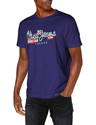 Pepe Jeans Salomon Camiseta, Azul (Scout Blue 571), XX-Large para Hombre