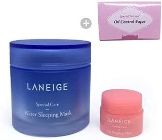 Laneige Water Sleeping Mask 2.37oz(70ml) + Laneige Lip Sleeping Mask Kit 0.11oz(3g)