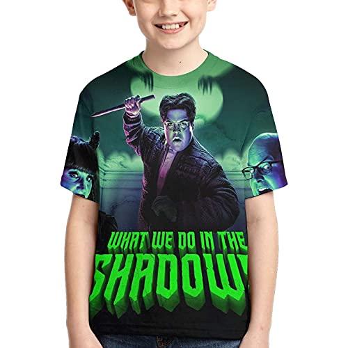 Hdadwy Camiseta para niños What We Do in The TV Shadows Camiseta Tops Camiseta con Estampado 3D para niños y niñas