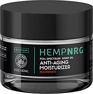 HEMPNRG Hydration Emulsion Cream- Hemp Seed Oil- Plump Lines, Anti-Aging, Reduce Discoloration, Hydrate Face, Neutralize Radicals