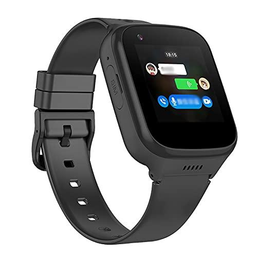 URJEKQ Smartwatch Mujer Hombre Reloj Inteligente con GPS y Frecuencia Seguimiento del Sueño Reloj de Carrera Impermeable,Negro
