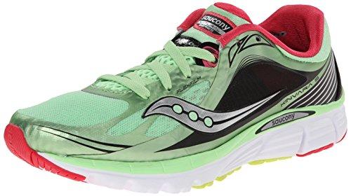Saucony Women's Kinvara 5 Running Shoe,Mint/Cherry,7 M US