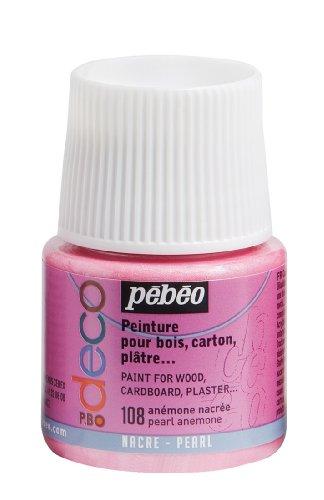 Pébéo 285108 108 Pearl Anemone - Pintura acrílica (Mate, 45 ml), Color Rosa