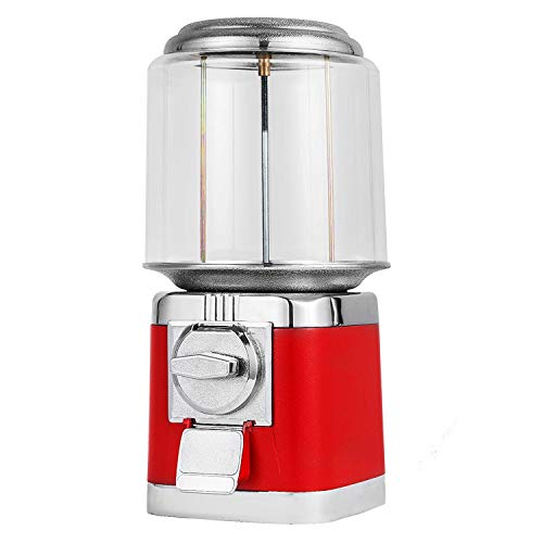 Mophorn Gumball Machine Durable Metal Body Gumball Dispenser Machine with Key Lock Big Gumball Machine Red Style Candy Vending Machine Perfect for Home Use Gaming Stores