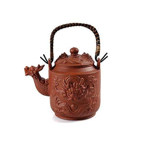 LBBZJM 780ml Dragón teteras de Arcilla púrpura Tetera Yixing Hervidor Kung Fu Chino Recipientes de Gran Capacidad de la Caldera de té Juego de té de cerámica (Color: Rojo) (Color : Red)