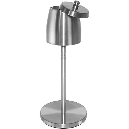 スタンド灰皿 ふた付き 高さ調整 大容量 静音設計 滑り止め付き 屋外 室内 兼用 防風 防臭 密閉 洗いやすい ステンレス