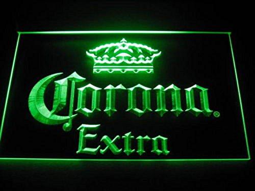 Corona Extra LED Zeichen Werbung Neonschild Grün