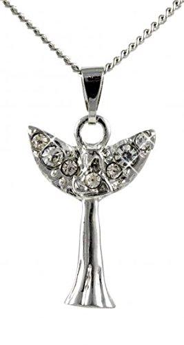 Collier avec pendentif ange déguisé en forme d'ailes en cristal avec message spécial