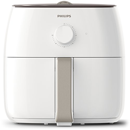 Philips Twin TurboStar Technology XXL Airfryer  with Fat Reducer, Analog Interface, White, 3lb/4qt-  HD9630/28