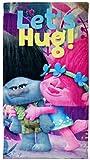 Disney- Trolls Let's Hug Serviette De Plage, TR17013, 140 x 70 Cm