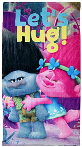 Disney Trolls Let's Hug - Toalla de Playa (TR17013, 140 x 70 cm)