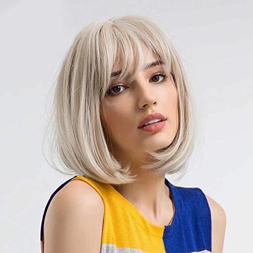 adquirir pelucas cortas sin flequillo en internet