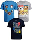 Nickelodeon Toddler/Little Boys Paw Patrol Shirt - Short Sleeve Graphic T-Shirt (3 Pack), Navy/Light Blue/Grey, Size 2T'