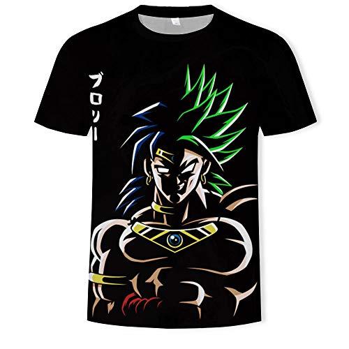 Maglietta da uomo con stampa 3D Cartoon Anime Seven Dragon Character Fashion Cool Street, T202, XXXXL