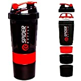 Worthy Shoppee Red Spider Protein Shaker Bottle for Gym - 500ml...