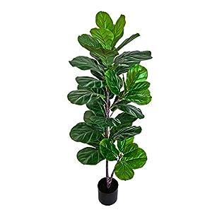 BESAMENATURE 49″ Artificial Fiddle Leaf Fig Tree, Faux Ficus Lyrata for Home Office Decoration