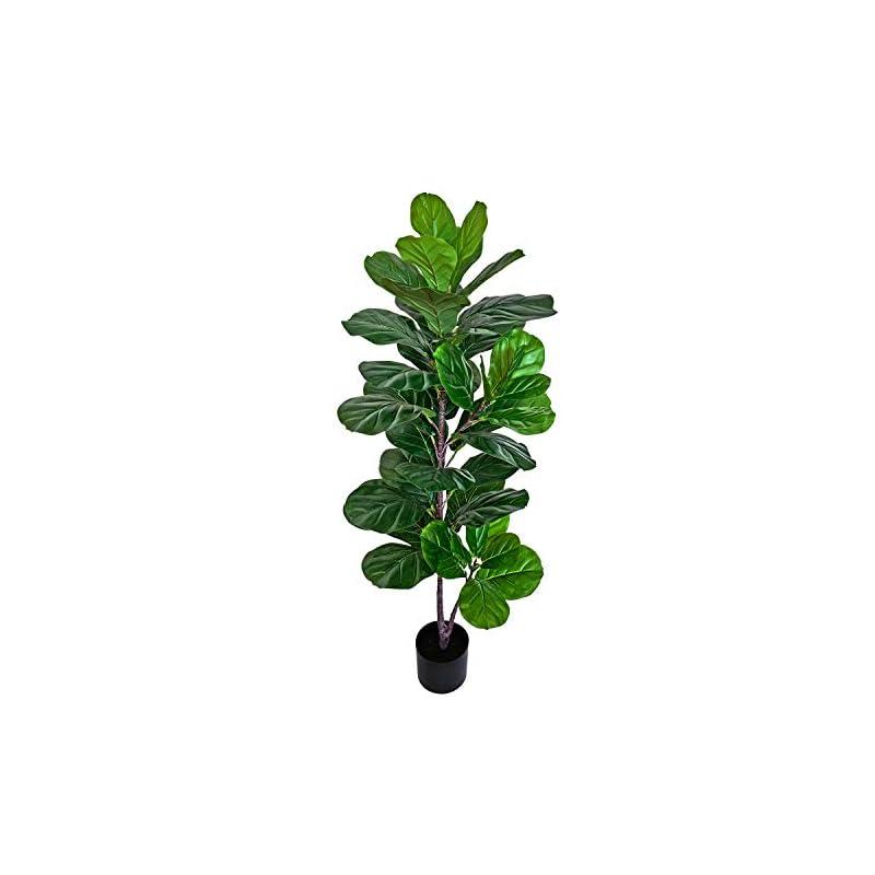"silk flower arrangements besamenature 49"" artificial fiddle leaf fig tree, faux ficus lyrata for home office decoration"