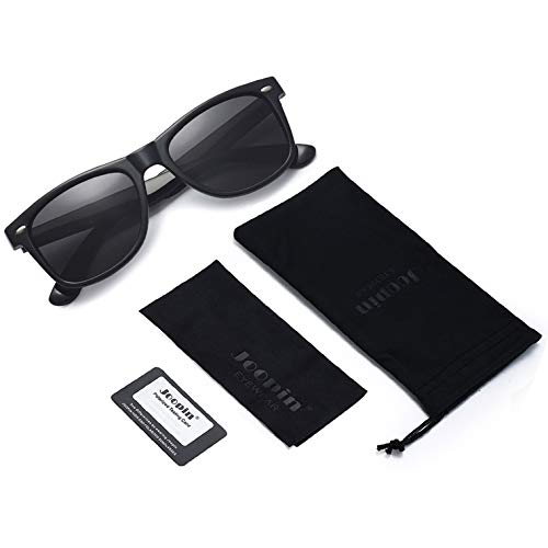 Joopin Unisex Polarized Sunglasses Classic Men Retro UV400 Brand Designer Sun glasses (Black, Simple packaging)