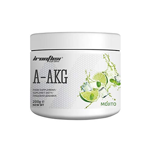 IronFlex A-AKG - Arginine Alpha-Ketoglutarate - Force and Pump – Powder - Package of (Mojito, 200g)