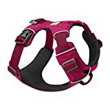 RUFFWEAR, Front Range Dog Harness, Reflective and Padded Harness for Training and Everyday, Hibiscus Pink, Medium