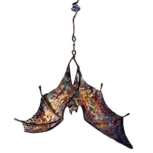 Sunnyushine Drachen-Fledermaus-Windfänger, faszinierende Gartendekoration, Windfänger, interessante Fledermaus und Drache, Windspiel, Spinner, Gartendekoration, Outdoor-Dekoration