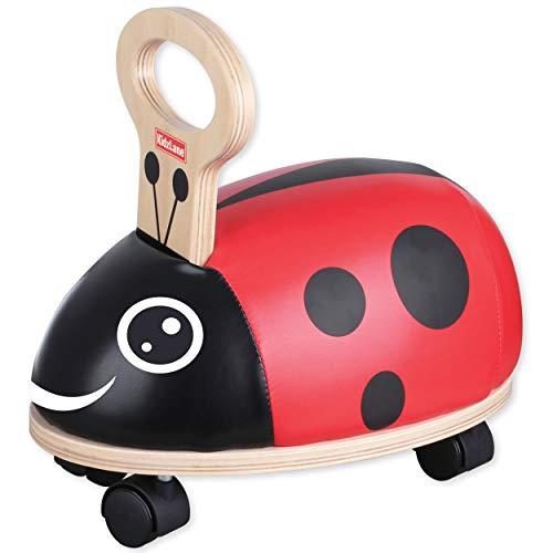 Buy Cheap Kidzlane Mini Bug Ride On - Sturdy Wooden Toddler Riding Toy with Plush Seat & Gliding Whe...