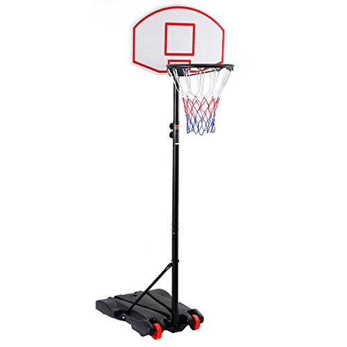AchieveUSA Adjustable Basketball Hoop System Stand with Wheels