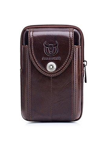 WeeDee Echtleder Bauchtasche Gürteltasche Handytasche Hüfttasche Geldbörse Geldbeutel Herren Ledertasche für iPhone X/8/7/6/S/Plus Samsung Galaxy S8/S7/S6 Note 8 Huawei HTC