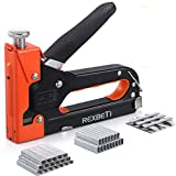 REXBETI Staple Gun, Heavy Duty 3 in 1 Staple Gun with 2600-Piece Staples for Upholstery, Fixing Material, Decoration, Carpentry, Furniture (Staple Gun)