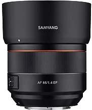 Samyang 85mm F1.4 High Speed Auto Focus Lens for Canon EF Mount, Black (SYIO85AF-C)