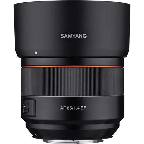 Samyang 85mm F1.4 High Speed Auto Focus Lens for Canon EF Mount, Black (SYIO85AF-C)