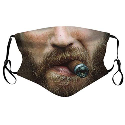 Lomelomme Lustig Mundschutz Bandanas Waschbar 3D Motiv Staubdicht Mund und Nasenschutz Wiederverwendbare Atmungsaktiv Halstuch