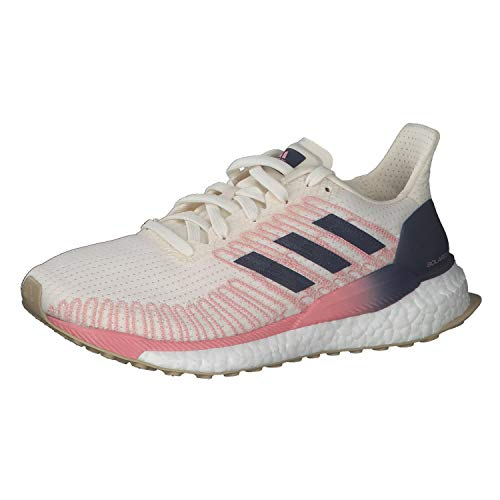 adidas Damen Solar Boost 19 W Laufschuhe, Chalk White/Tech Indigo/Glory Pink, 39 1/3 EU