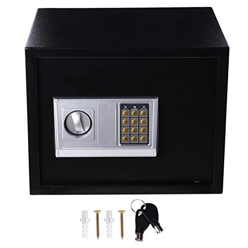 Caja fuerte electrónica de seguridad digital, teclado con contraseña y bloqueo de teclas, para uso comercial en el hotel, oficina en casa, almacenamiento de objetos de valor en efectivo para armas de