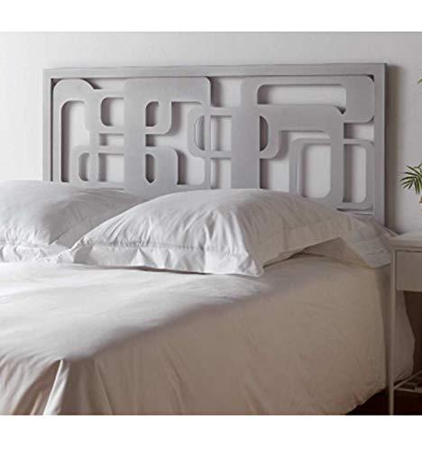 Forja Hispalense Cabeceros de diseño Moderno - Blanco 36, Cabecero para colchón de 105 cm