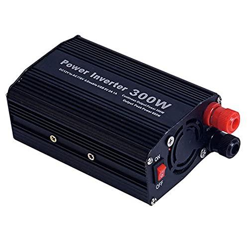 Wxnnx Inversor De Corriente para Coche De 100W / 150W / 200W / 300W DC 12V / 24V A 220V Convertidor De CA con Cargador USB Dual Adaptador De Enchufe para Automóvil,300W~12V to 220V