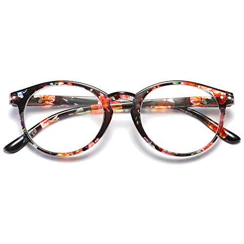 VEVESMUNDO® Lesebrillen Damen Herren Federscharnier Lesehilfe Augenoptik Vintage Retro Qualität Vollrandbrille 1.0 1.25 1.5 1.75 2.0 2.25 2.5 3.0 3.5 (1 Stück Rosa Blumen, 1.5)