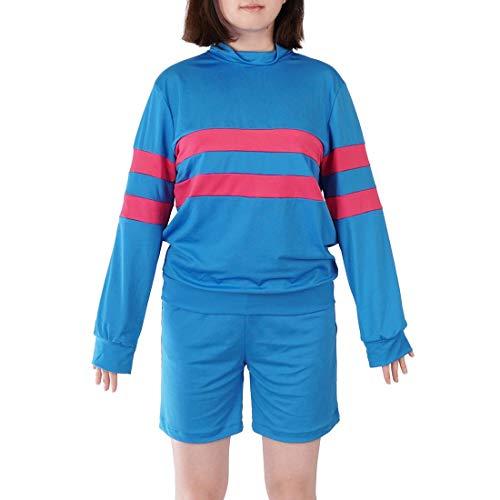 CoolChange Disfraz Cosplay de Frisk | Camiseta & Pantalones Cortos para Fan de Undertale | Talla: M
