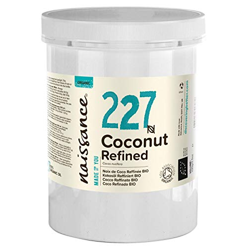 Naissance Organic Refined Coconut (Solid) Oil 2.2 lbs. - Pure, Natural, UK Certified Organic, Cruelty Free, Vegan - Moisturizing & Hydrating - Ideal for Aromatherapy, Skincare and Haircare