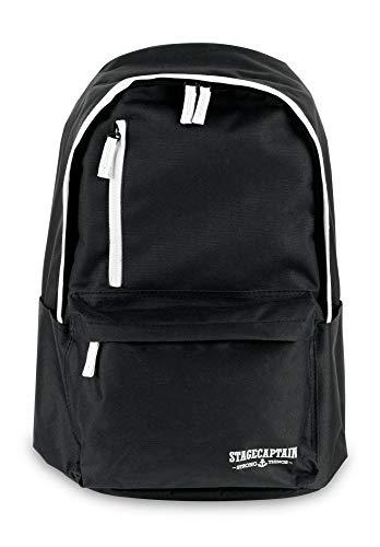 Stagecaptain SB-48 Studentsbuddy Laptop Rucksack (hochwertiger Schul- & Freizeitrucksack im klassischen Stil mit herausnehmbarer Laptop-/Tablet-Tasche, wasserabweisend) Schwarz
