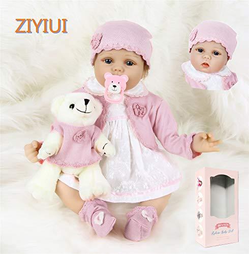 ZIYIUI Reborn Muñecas Bebé Soft Simulación Vinilo Silicona Realista Bebé Reborn 22 Pulgadas 55 cm Realista Vivid Boy Girl Toy