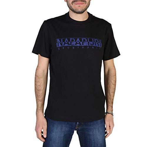 Napapijri SOLANOS Camiseta, Negro (Black 0411), XL para Hombre