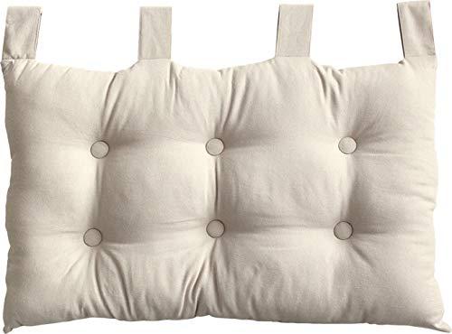Enjoy Home 2007CHTL070045 - Testiera da letto in tessuto, 70 x 9 x 45 cm, Tessuto, écru, 9 X 45 CM