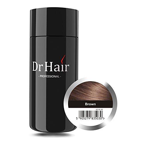 Hair Fibers by Dr Hair – Revolutionary Nanotechnology for Instant Hair Thickening – Simple Application of Natural Hair Building Fibers – Hair Thickening Fibres Keratin Hair Fiber (Brown) 1.05oz