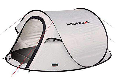 High Peak Wurfzelt Vision 2, Pop Up Zelt für 2 Personen, Festivalzelt freistehend, super leichtes Schnellöffnungs-Wurfzelt, 2000 mm wasserdicht, UV 60 Sonnenschutz, Ventilationssystem, Moskitoschutz