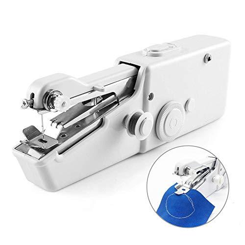 N/A NA - Mini máquina de coser de mano portátil, set de costura manual para reparaciones rápidas, ropa para casa