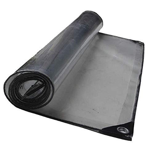 Lona Transparente de Vidrio Impermeable Tela Transparente Resistente a la Lluvia Espesar Balcón Exterior Patio Sombra a Prueba de Polvo PVC 20 tamaños (Color: Transparente Tamaño: 2.0X2.0M
