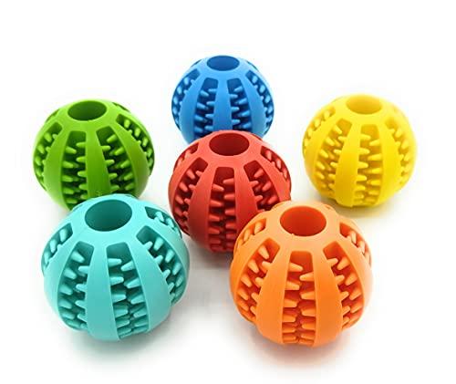 Promotech 5 cm Durchmesser Hundeball mit Zahnpflege-Funktion für kleine und große Hunde Futterball für Leckerli