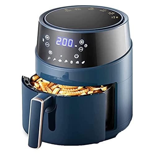 HKJZ SFLRW 4.6L Freidora de Aire eléctrico Digital con Accesorios - freír, Asar, Hornear, crujir y recalentar la Cocina más Saludable y más rápida (Azul)