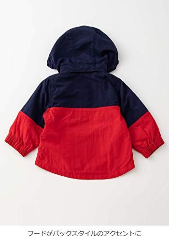 MAKEYOURDAY(メイクユアデイ)ベビー服赤ちゃんフード取り外し可ウィンドブレーカーベビー子供服男の子女の子長袖防寒80㎝ギンガムチェックブルー